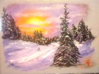 Закат в зимнем лесу/Sunset in the winter forest