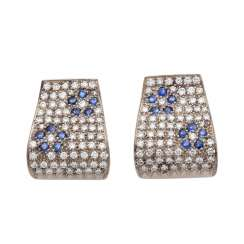 Stud earrings set with brilliant-cut diamonds, approximately 1.8 ct,