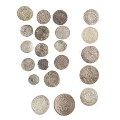 Compilation of small coins, with a focus Württemberg -