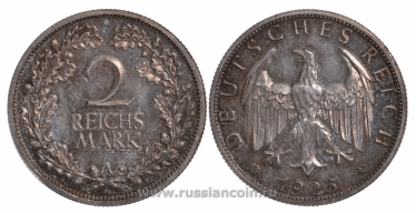 GERMANY 2 REICHSMARK 1925 A