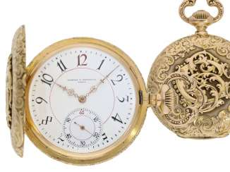 Pocket watch: extremely rare Vacheron & Constantin gold savonnette with Renaissance housing, Geneva, CA. 1890, No. 302611