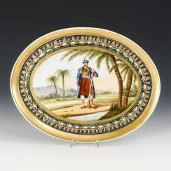 Plate with an exotic motif