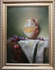 """Still life with a jug and grapes"""