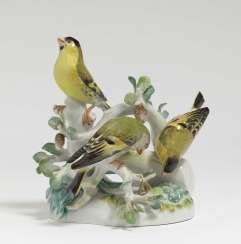 Meissen siskin group, after a model by August Ringler