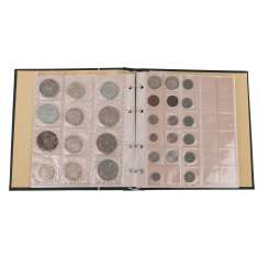 Colorful mixed coin album with SILVER