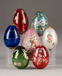 COLLECTION OF SEVEN EASTER EGGS Russia