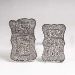 Two unusual Chinese cases with Filigree and Relief decor