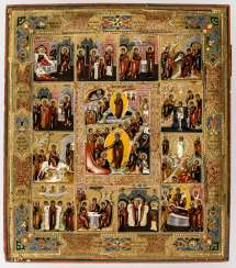 Icon of the feast days of the Church year