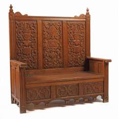 Chest bench in late Gothic style around 1900