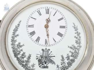 Pocket watch: heavy and large silver pocket watch with Musical movement, Albert Didisheim & Frères CA. 1890