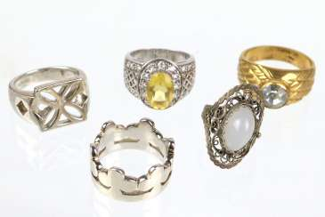 3 Cocktail rings among others
