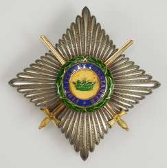 Saxon Duchies: Saxony Ernesti Against The Orders Of The House, 2. Model (1864-1935), commander's star with swords.