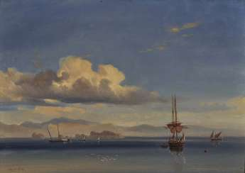 Antoine Léon Morel-Fatio - Evening mood off the coast