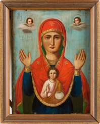 ICON WITH THE MOTHER OF GOD OF THE SIGN (ZNAMENIA) Russia