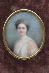 Miniature Portrait Of A Lady, Magnifying Glass Painting