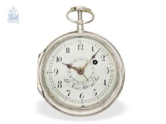 Pocket watch: technical interesting, great and rare Spindeluhr with percussion and date, Domenique Nevir Berlin, Hger du Roi, No. 377, C. 1810