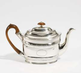 George III teapot with engraved decoration