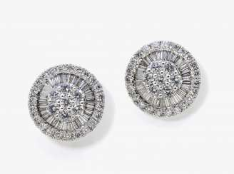 A pair of diamond earrings, Germany