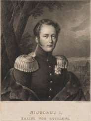 GERMAN ENGRAVER Active in the 1st half of the 19th century in Russia 'Nicolaus I. Kaiser von Russland' (after Franz Krüger) Lithograph on paper. 35