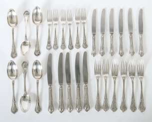 Collection of dining Cutlery parts of Gebrüder Friedländer and Wilkens & sons