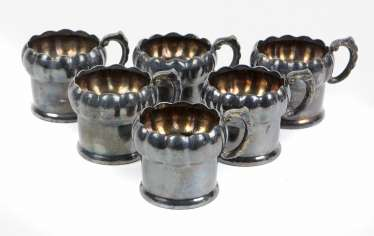 Set Tea Glass Holder Silver 830