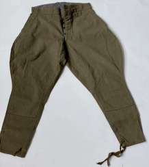 Soviet Union: boot pants. Earth-colored cloth