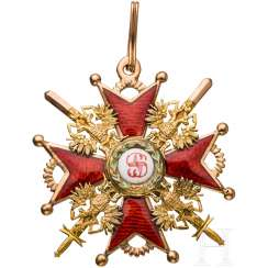 St. Stanislaus Medal - Cross-3. Class with swords, around 1900