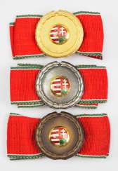 Hungary: merit badge, in Gold, silver and Bronze.
