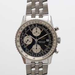 BREITLING men's 'Navitimer', about 1990s, of stainless steel.
