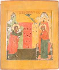 A BIG ICON WITH THE ANNUNCIATION OF THE MOTHER OF GOD