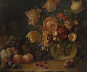 Anonymous: still life with flowers from around 1800.