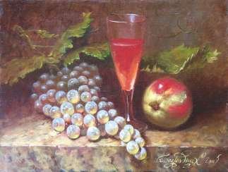 naturmort with grapes