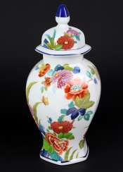 Lid Vase Indian Flowers Decor
