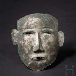 Bronze death mask, early iron age of South-Eastern Europe, approximately 6. Century before Christ