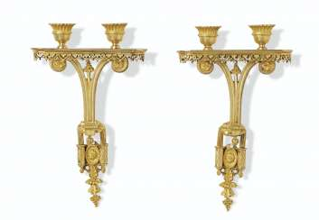 A PAIR OF LATE LOUIS XVI ORMOLU WALL-LIGHTS