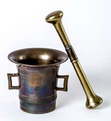German mortar with pestle