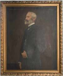 UNKNOWN ARTIST, Mr portrait WITH a rod of IRON CROSS, Oil/canvas, 19./20. Century