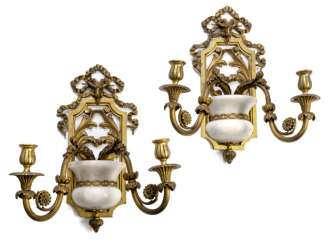Two Wall Sconces. Neo-classical style, around 1900