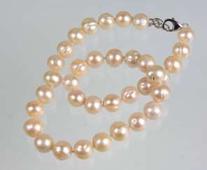 Freshwater Pearl Necklace - 925 Silver