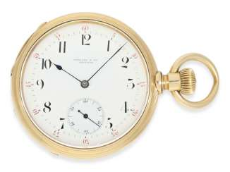 Pocket watch: very early and rare A. Lange & sons pocket watch best quality 1A, delivered to Tiffany New York No. 7688, CA. 1870, with the master excerpt from the book