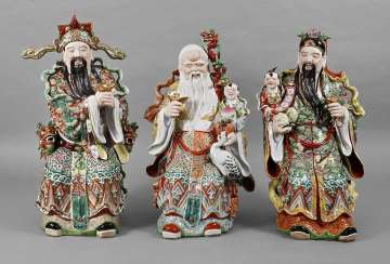 Large Porcelain Figures Sanxing