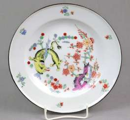 Meissen rare plate royal. Courtyard pastry shop 1830