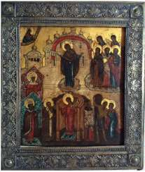 "Icon ""Intercession Of The Theotokos"". Moscow, XIX century."