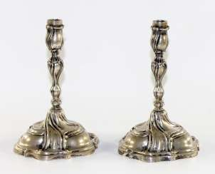 Pair Of Baroque Style Candlesticks
