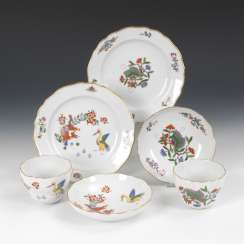 2 place settings with kakiemon painting, MEISSEN