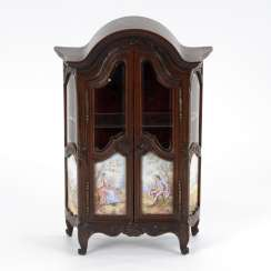 Viennese miniature furniture with enamel painting