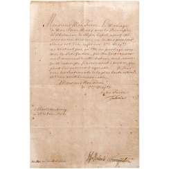 King Frederick II of Prussia hand signed letter to king Charles V of Naples and Sicily from the 26.6.1752 with the counter-signature of the Minister Podewils, and von finckenstein