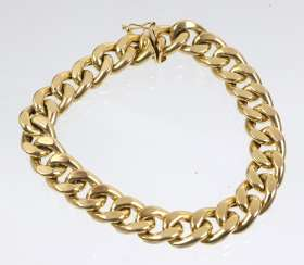 wide curb bracelet - yellow gold 585