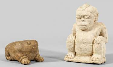 Pair of Southeast Asian sculptures