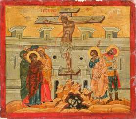 ICON WITH THE CRUCIFIXION OF CHRIST Greece